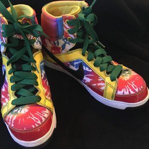 Nike Air Troupe ll Mid-HighTop Tie Dye Shoes